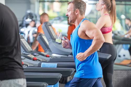 PureGym man on treadmill machine