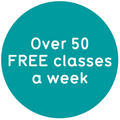 Over 50 free classes a week