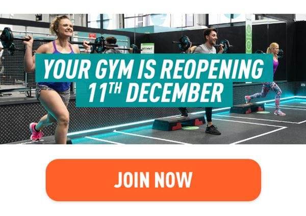 Your gym reopens 11th December