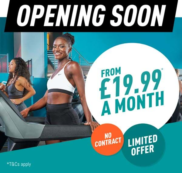 Pure Gym opening soon from £19.99 a month, no contract, limited offer