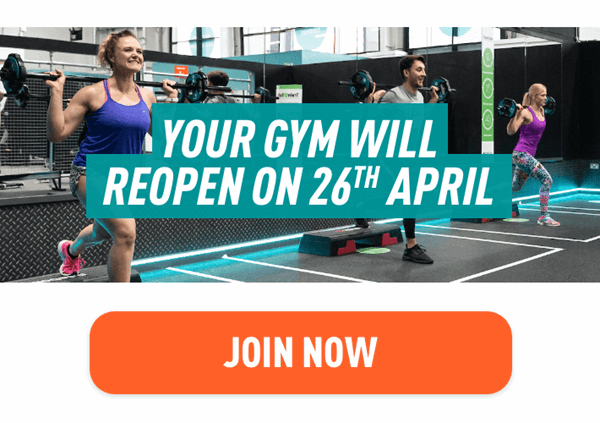 Your gym will reopen on 26th April