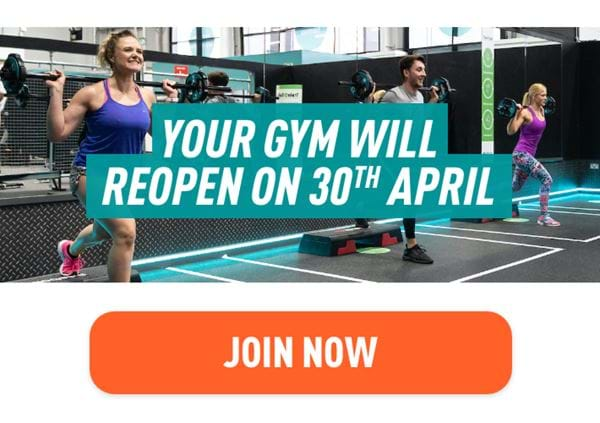 You gym will be reopening 30th April 2021. Join now.