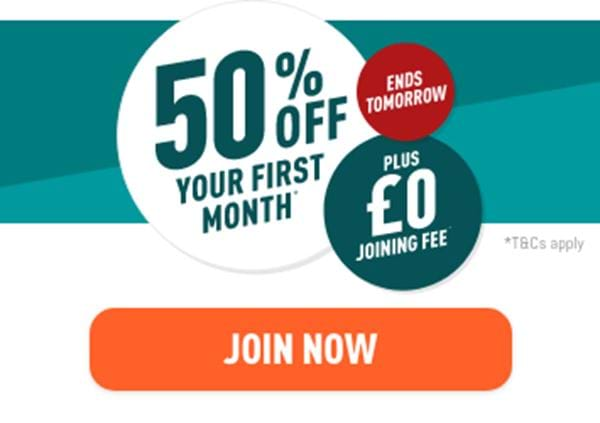 Hurry! Get 50% off your first month & £0 joining fee for a limited time only. Join now.