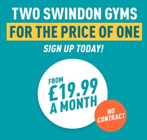 Two Swindon Gyms for the price of one sign up today